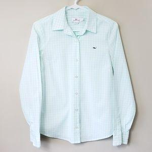 Vineyard Vines Pale Green Gingham Shirt
